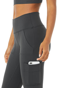 Alo High Waist Cargo Leggings Anthracite