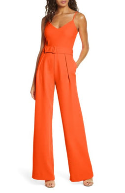 Black Halo Evie Jumpsuit Orange Tang