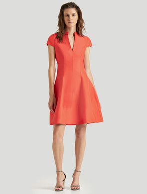 Halston Silk Faille Dress