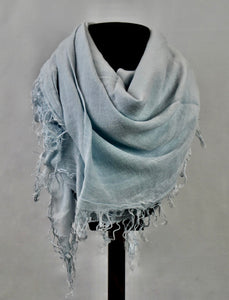 Blue Pacific Tissue Solid Scarf