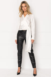 Lamarque Morissa Leather Trouser Black
