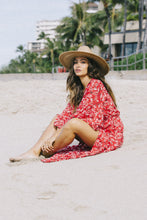 Load image into Gallery viewer, XIX Palms Temecula Kimono Dress Red