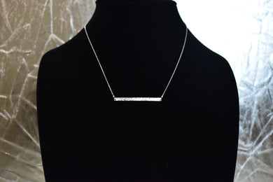 Amy Waltz Designs Sterling Silver mini bar necklace