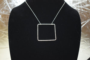 Amy Waltz Designs Large Sterling Silver square necklace