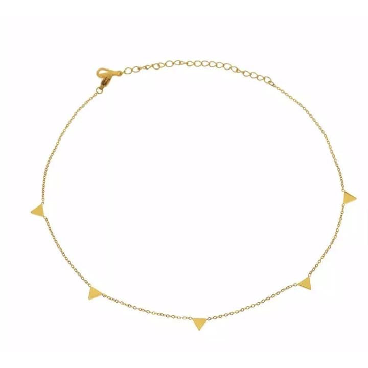 Sahira Triangle Choker Gold