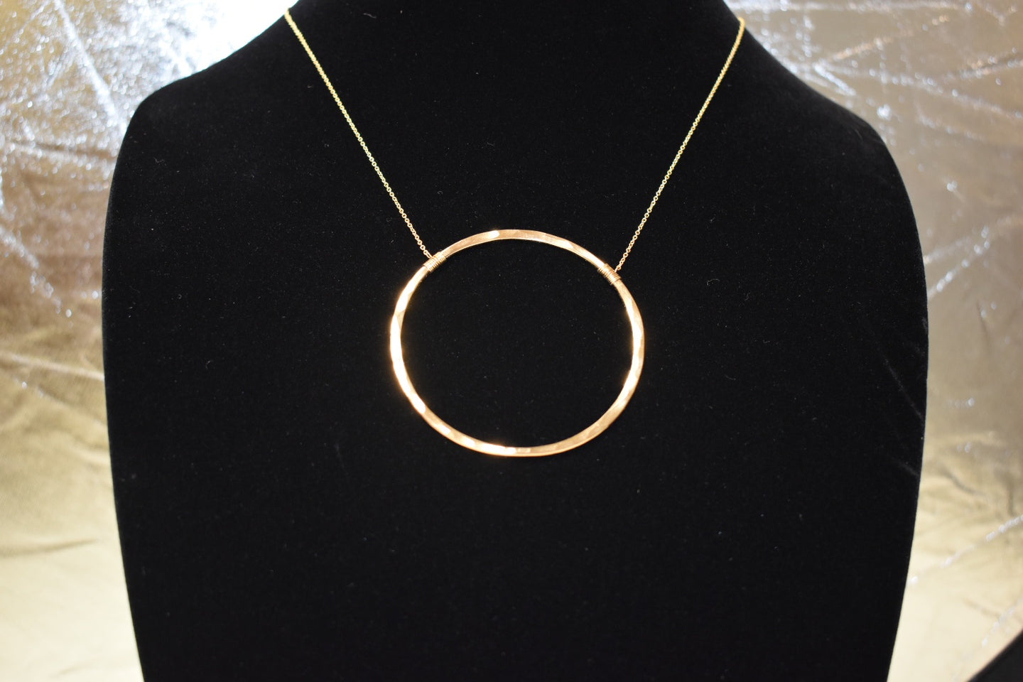 Amy Waltz Designs gold inner circle necklace