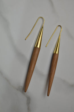 Soko Teak Quill Threaders Earrings