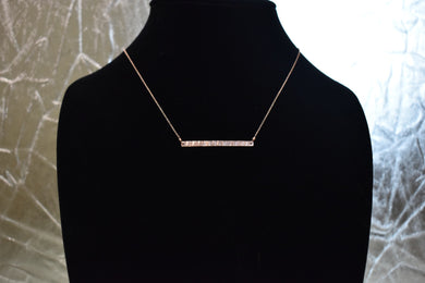 "Amy Waltz Designs mini bar Necklace with 18"" chain."
