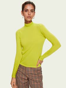Scotch and Soda Gathered Sleeve Turtleneck