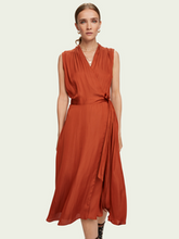 Load image into Gallery viewer, Scotch & Soda Sleeveless Midi Wrap Dress