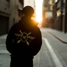 Load image into Gallery viewer, Nimbus Black & Gold Logo Hoodie