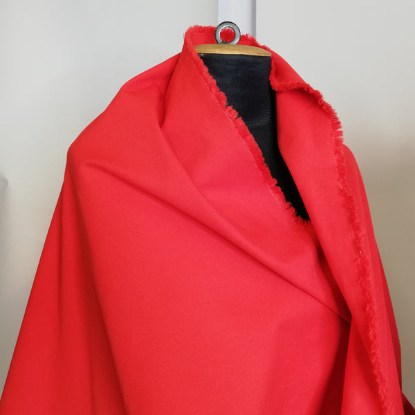 ZZ Bright Red Cotton Drill
