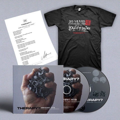 BUNDLE: Signed Double CD + Lyric Sheet + T-shirt