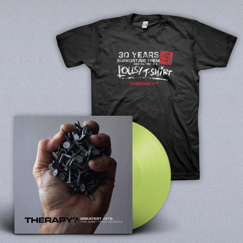 BUNDLE: Signed Translucent Green Vinyl + T-shirt