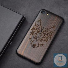 Load image into Gallery viewer, Anchor Dark Ebony Handmade Engraved Wood Phone Case for iPhone 7 Plus 6 6S 8 Plus