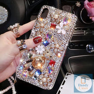 Blinging Lovely Handmade Crystal Faux Diamonds Rhinestone Phone Case For iPhone and Samsung Galaxy