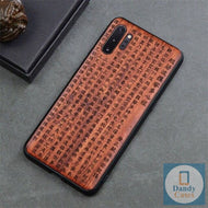 Chinese Characters Handcrafted Engraved Wood Phone Case for Samsung Galaxy Note 10 9 S10 S9 Plus