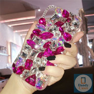 Chunky Crystal Gem Pink Diamond Handmade Faux Stone Case For iPhone 11 Pro X XS MAX XR 5S 6S 7 8 PLUS