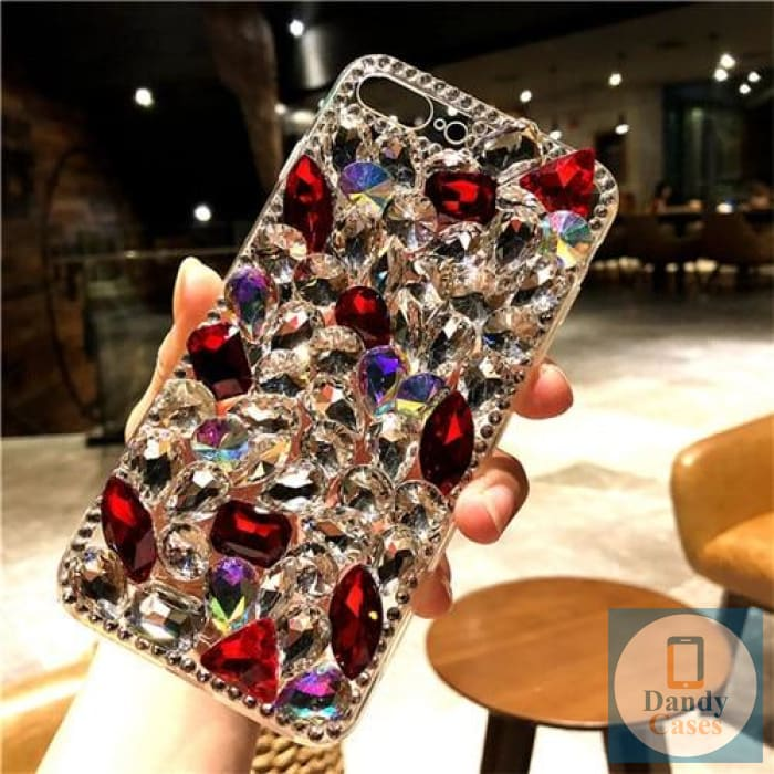 Chunky Crystal Gem Ruby and Diamond Handmade Faux Stone Case For iPhone 11 Pro X XS MAX XR 5S 6S 7 8 PLUS