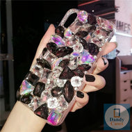 Chunky Crystal Gem White and Black Diamond Handmade Faux Stone Case For iPhone 11 Pro X XS MAX XR 5S 6S 7 8 PLUS