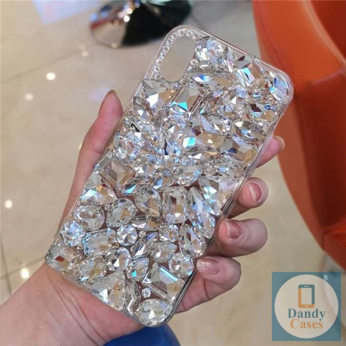 Chunky Crystal Gem White Diamond Handmade Faux Stone Case For iPhone 11 Pro X XS MAX XR 5S 6S 7 8 PLUS
