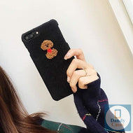 Corduroy Plush Animals Handcrafted Case For iPhone