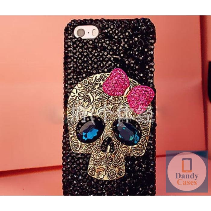Crystal Skull Bling Handmade Phone Case for iPhone 5S SE 6 6S 7 8 Plus XR XS 11 Pro Max