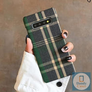 English Tweed Handmade Tartan Plaid Fabric Phone Case For Samsung Note 10 Plus Note 8 9 S10 S8 S9
