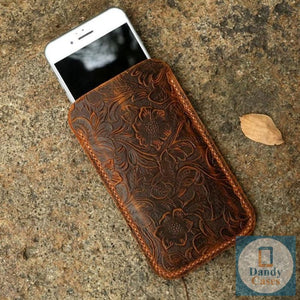 Genuine Leather Phone Sleeve For iPhone
