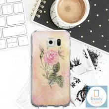 Load image into Gallery viewer, Hand-Painted Rose Phone Case for Samsung Galaxy Note 8 9 S2 S3 S4 S5 Mini S6 S7 S8 S9 S10 Edge Plus Lite Shell