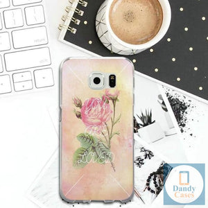 Hand-Painted Rose Phone Case for Samsung Galaxy Note 8 9 S2 S3 S4 S5 Mini S6 S7 S8 S9 S10 Edge Plus Lite Shell