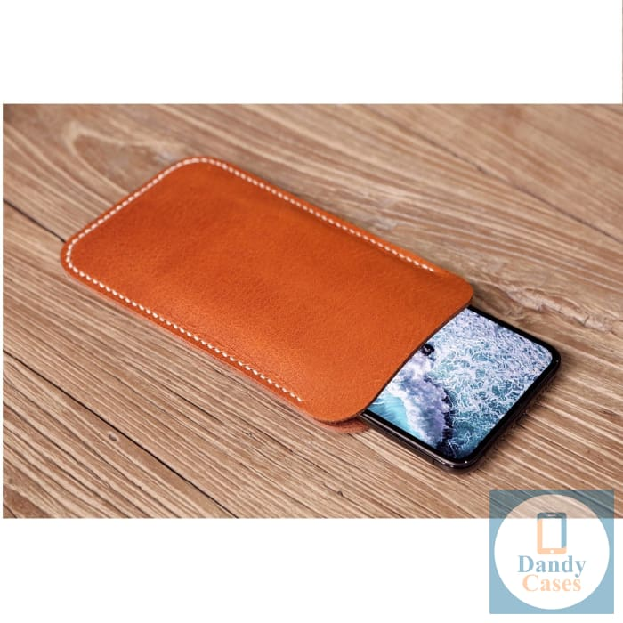 Handcrafted Leather Phone Pouch for iPhone