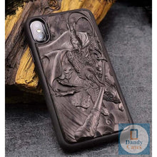 Load image into Gallery viewer, Handmade Luxury Carved Asian-Themed Ebony Wood Case for iPhone X XR XS Max