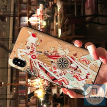 Load image into Gallery viewer, Kimono Girl Hand-Painted Embossed Phone Case for iPhone 6 6S 7 8 Plus X XS MAX XR