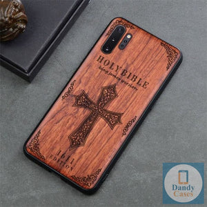 KJV Bible Handcrafted Engraved Wood Phone Case for Samsung Galaxy Note 10 9 S10 S9 Plus