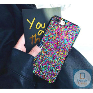 Rainbow Confetti Handmade Phone Case For iPhone