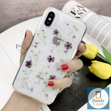 Load image into Gallery viewer, Real Dried Flowers Phone Case For iPhone 7 8 Plus X 11 Pro XR X XS Max 8 7 6S 6 Plus