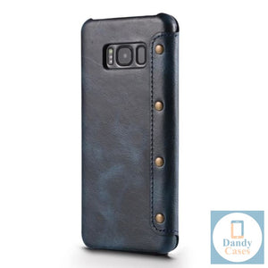 Real Handmade Leather Phone Wallet Case for Samsung Galaxy S10 Plus Case S9 Plus Note 9 S10 Plus S10E