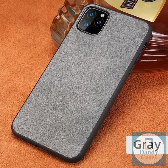 Real Suede Leather Phone Case For iPhone 11 Pro Max X XR XS Max 6 6S 7 8 Plus 5S