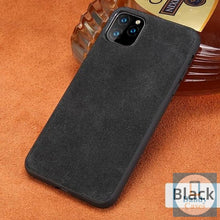 Load image into Gallery viewer, Real Suede Leather Phone Case For iPhone 11 Pro Max X XR XS Max 6 6S 7 8 Plus 5S
