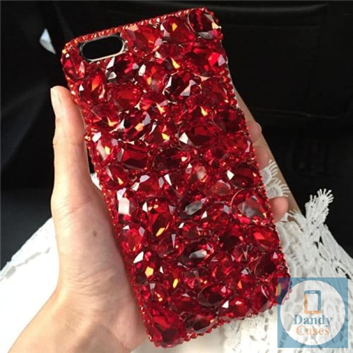 Red Crystal Diamond Case Cover For iPhone 11 Pro Max XS Max XR X 8 7 6S Plus and Samsung Galaxy Note 10 9 8 S10E S10 9 8 Plus