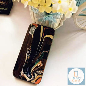 Retro Color Swirl Handmade Wood Phone Case for iPhone 6 S 7 8 plus X S R MAX