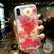 The Floral Life Handmade Real Dried Pink and White Flower Phone Case For iPhone 11 Pro X XS MAX XR 8 7 6S Plus