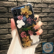 The Floral Life Handmade Real Dried Pink Yellow and White Flower Phone Case For iPhone 11 Pro X XS MAX XR 8 7 6S Plus