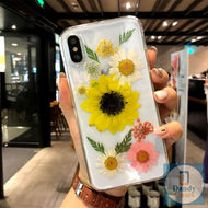 The Floral Life Handmade Real Dried Yellow Pink and White Flower Phone Case For iPhone 11 Pro X XS MAX XR 8 7 6S Plus