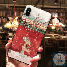 Load image into Gallery viewer, The Forbidden City Hand-Painted Artisan Embossed Phone Case For iPhone