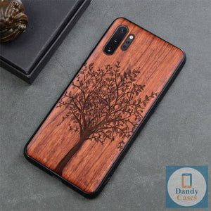 Tree of Life Handcrafted Engraved Wood Phone Case for Samsung Galaxy Note 10 9 S10 S9 Plus