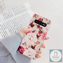 Load image into Gallery viewer, Whimsy and Roses Hand Painted Flower Phone Case For Samsung S10 E S9 S8 A50 A70 A40 Note 10 Plus