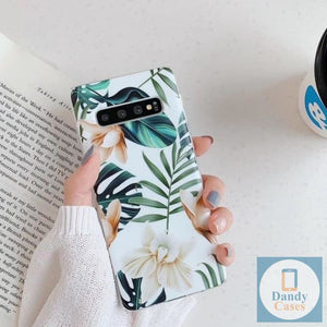 Whimsy and Roses Hand Painted Flower Phone Case For Samsung S10 E S9 S8 A50 A70 A40 Note 10 Plus