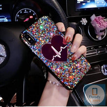 Load image into Gallery viewer, Your Heartbeat Handcrafted Glitter Sequin Phone Case For iPhone and Samsung